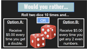 would you rather math questions with answers