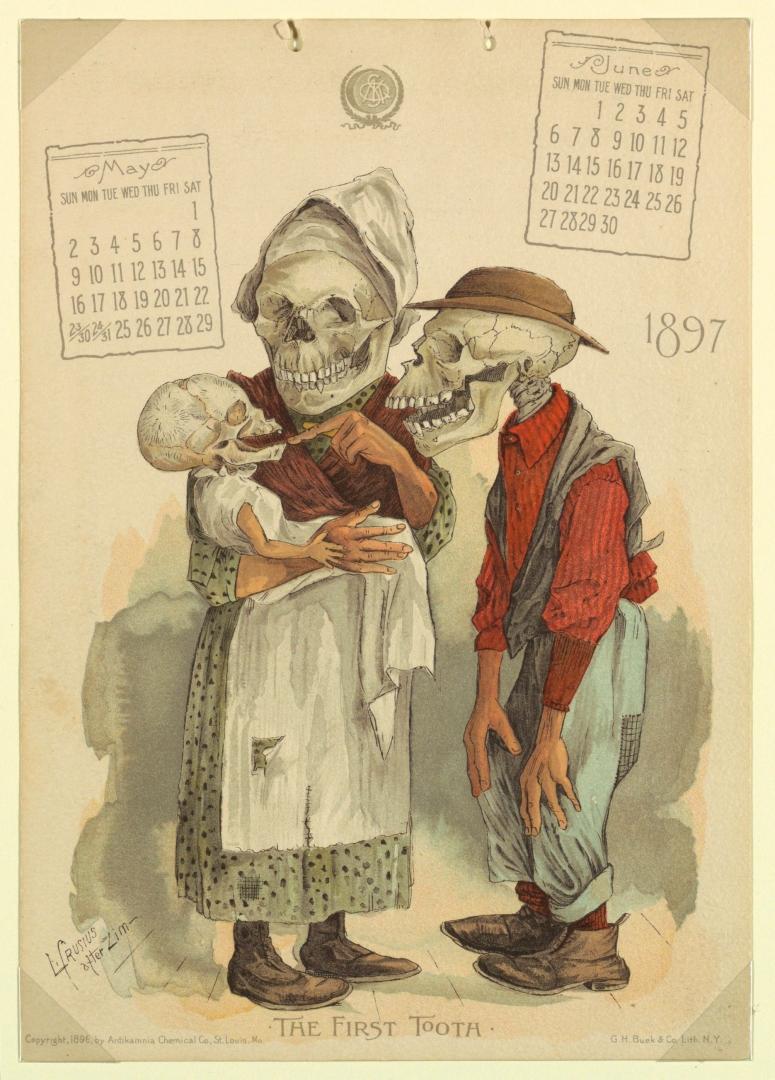 Antikamnia Calendar 1897, The first tooth!