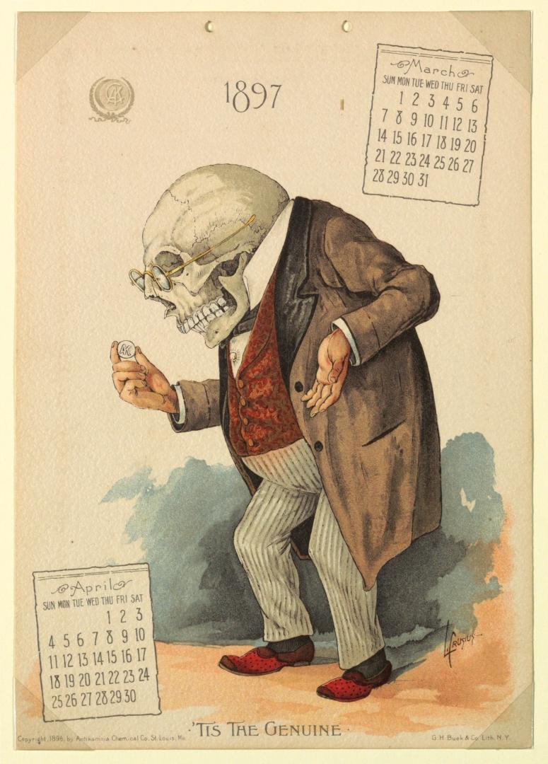Antikamnia Calendar March 1897